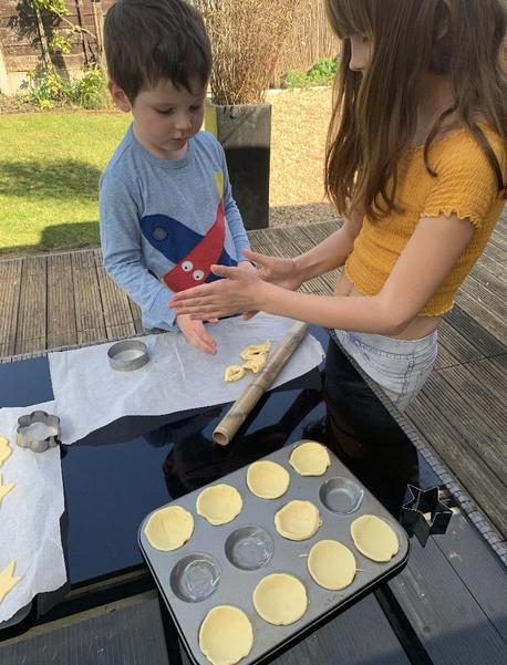 Making jam tarts!