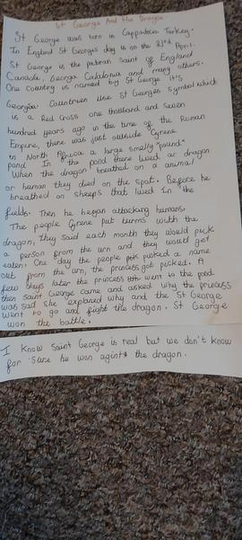 Amaya's written work about St George