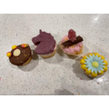 Jess' four very different cakes.