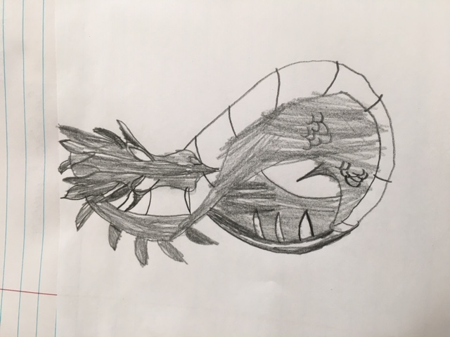 A fabulous dragon by Joseph