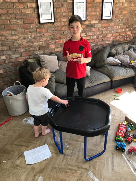 Ted builds a table for Billy!