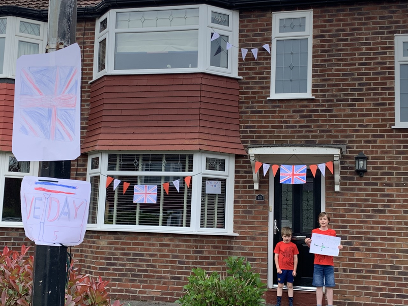 Will's all set for VE Day