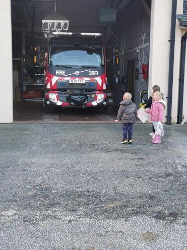 Going to the fire station because we are learning about people who help us,