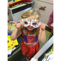 We designed and made masks for our superheroes...