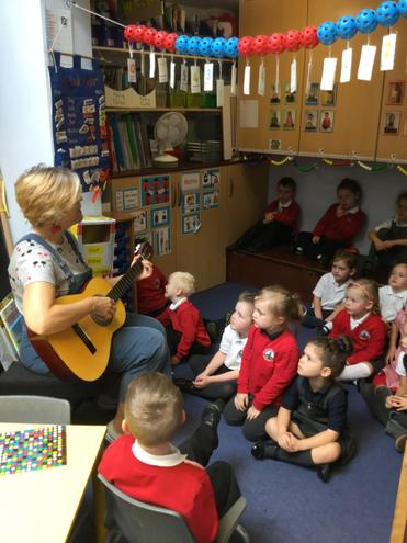Singing with Mrs Cooke