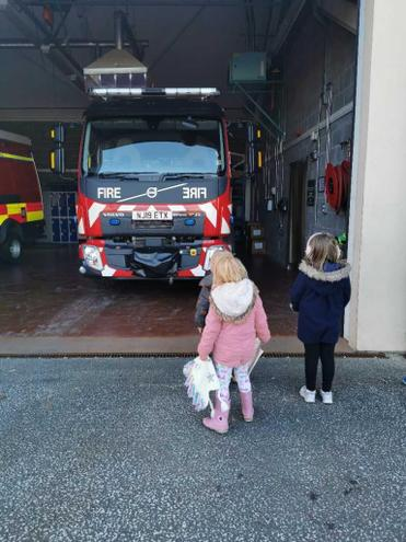Looking at the fire engines