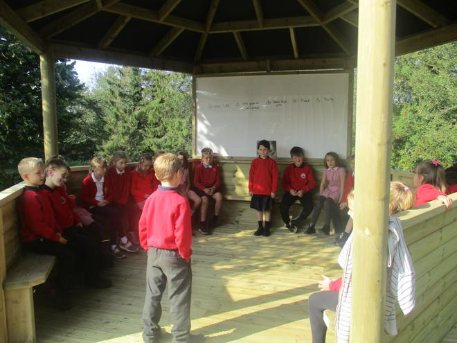 Year 3 Drama in our outdoor classroom