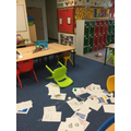 The destruction of the classroom.
