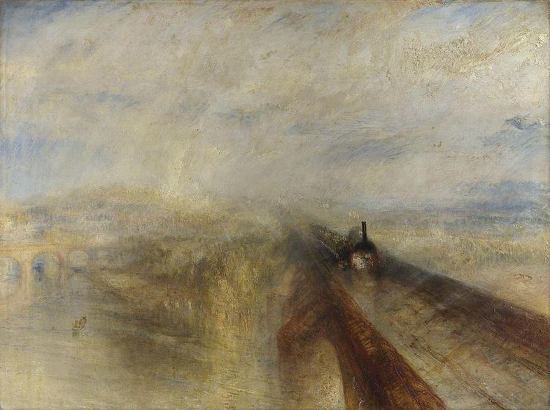 JMW Turner's painting Rain, Steam and Speed