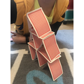 Dylan's card tower! Wow!