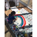 Painting rainbows for the fire station