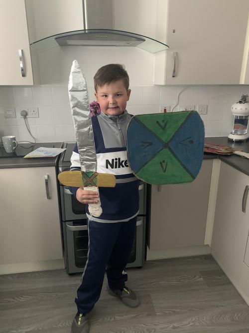 Viking sword and shield
