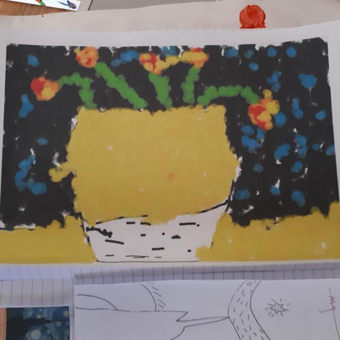 Zoe's computer art - Sunflowers