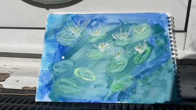 Art inspired by Monet - Jessica