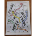 Jimmy played snakes and ladders