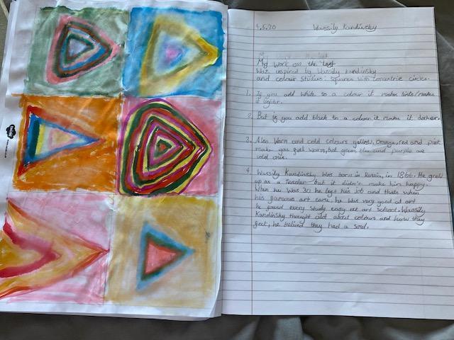 Erin's Kandinsky facts and artwork