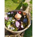 Chloe created a fairy garden