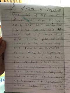 Callum's worm in trouble story