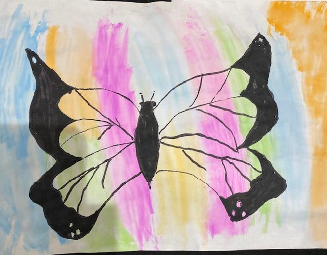 Erin's beautiful butterfly artwork