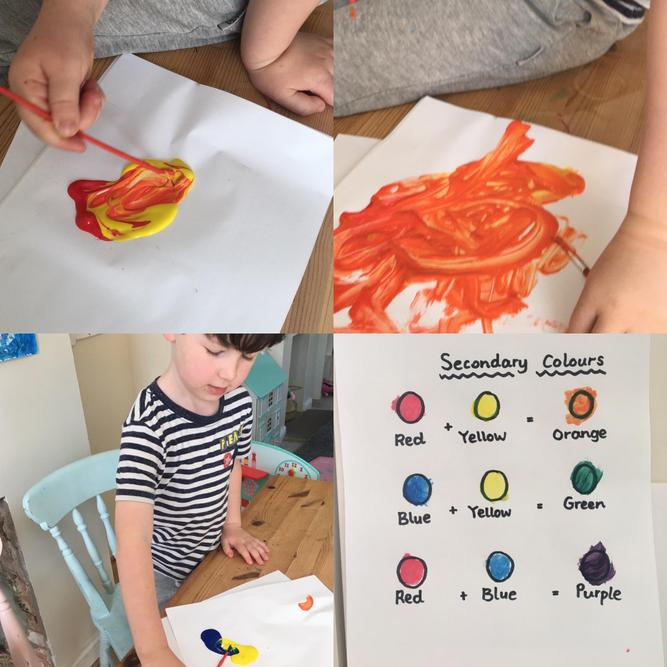Colour mixing - a very important skill.