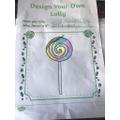 Emilia's lollypop design