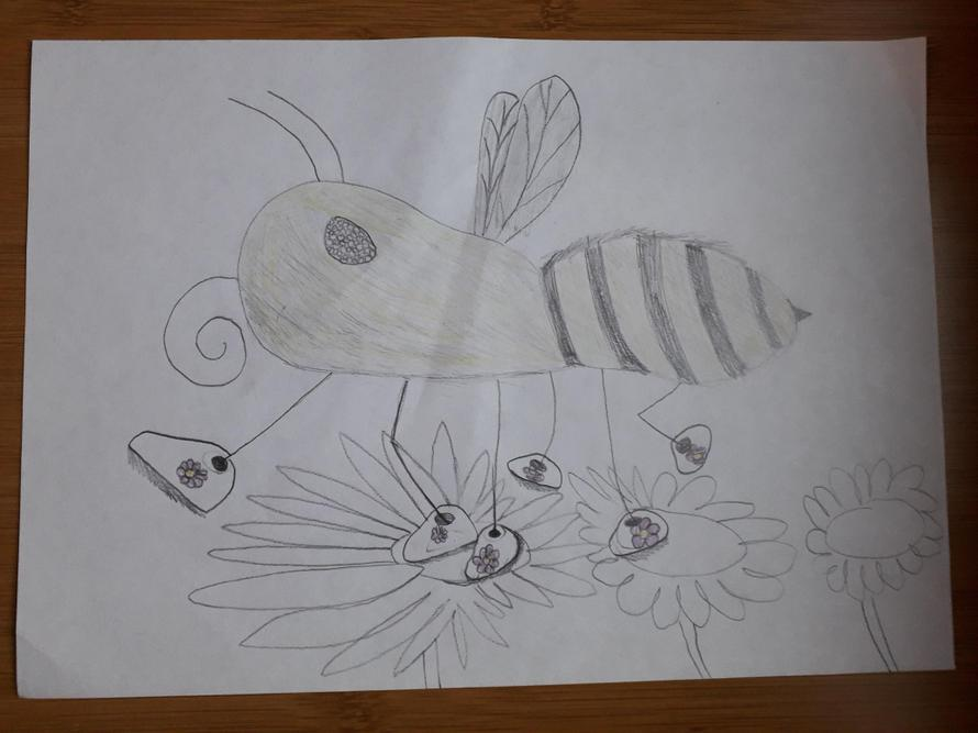 New shoes for a bee by Juliet