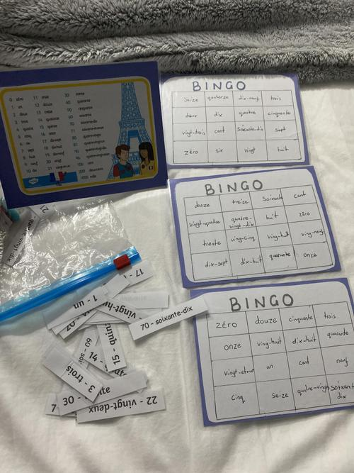 Kyla's french bingo