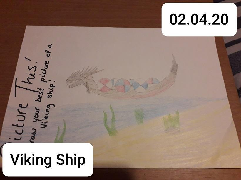 Juliet's beautiful longship drawing