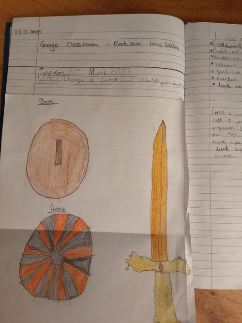 Henley's amazing sword and shield design