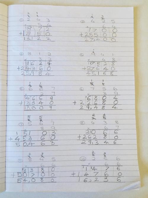 Chloe's masterful multiplication