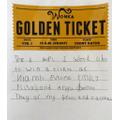 Esme's golden ticket