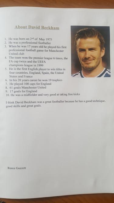 Famous British sportspeople.