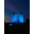 Niamh lit up Hedingham Castle for Clap for carers