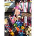 Having a teddy bears picnic