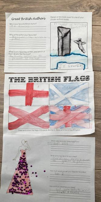 Jessica's flags, fashion and famous author