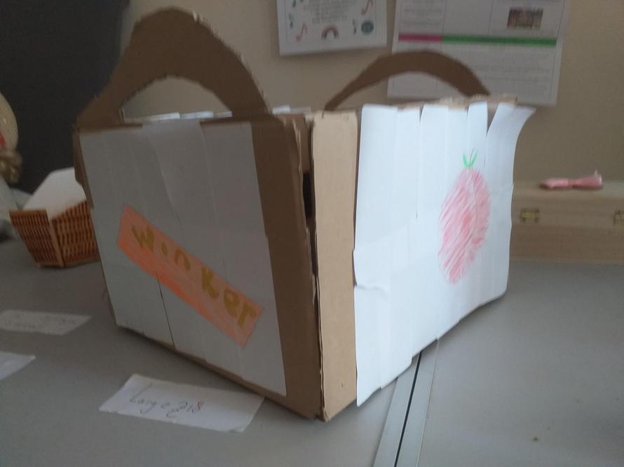 Zoe's Wonka happy meal box to use for tea tonight