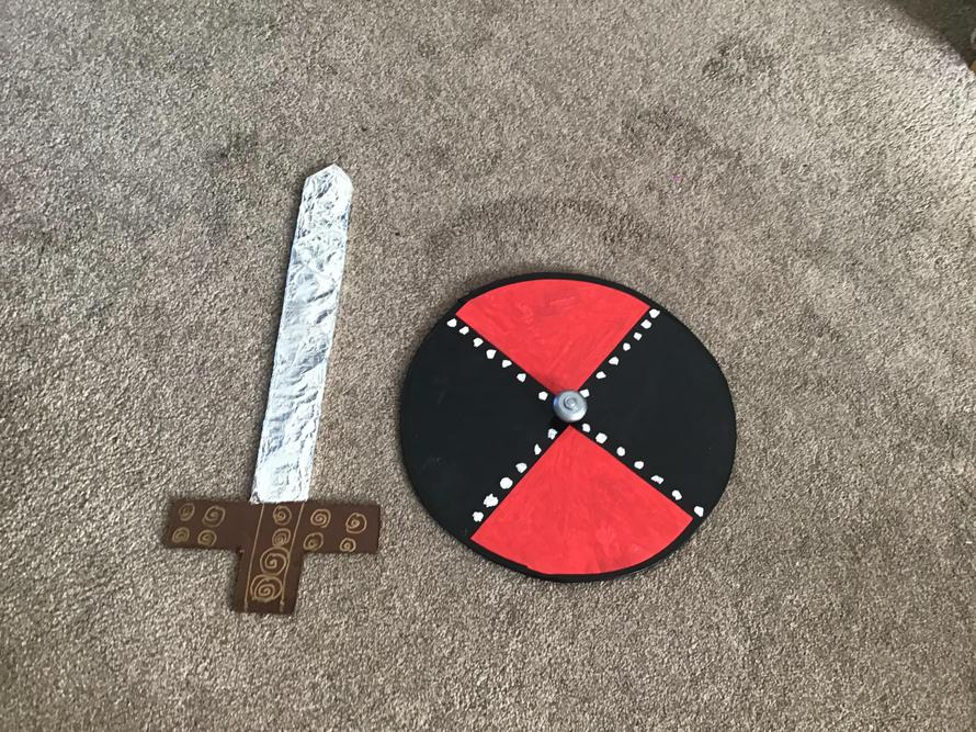 Heidi's brilliant sword and shield