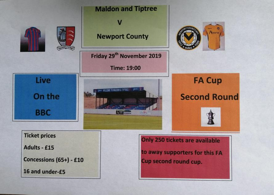 Emily's Maldon and Tiptree football match poster