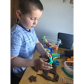Counting with chocolate playdough