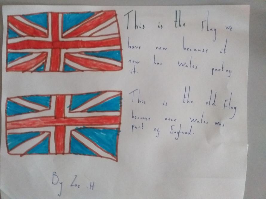 Zoe's Union Jack information