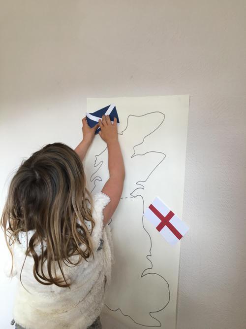 British Isles map work.
