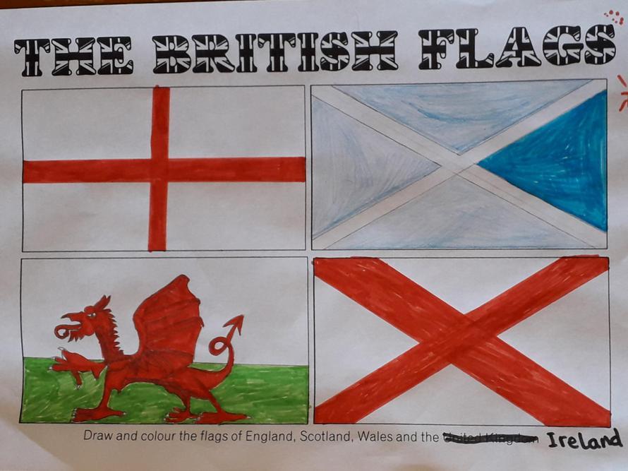 Juliet's British flags