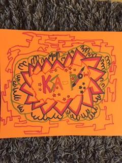 Norah's art inspired by Roy Lichtenstein