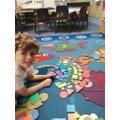 Inspired by Paul Klee's a shape rainbow