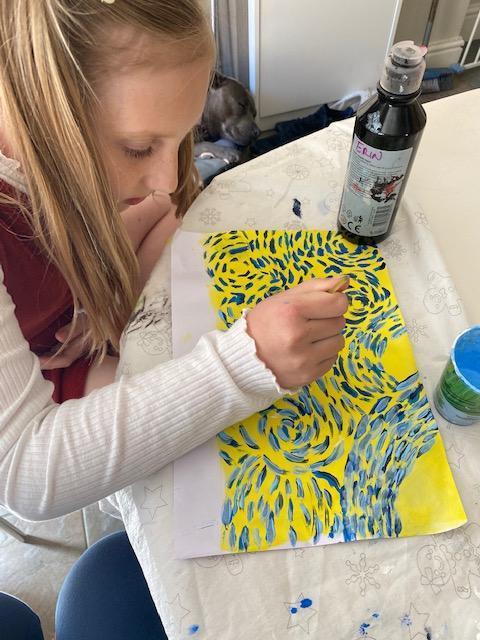 Vincent Van Gogh inspired artwork