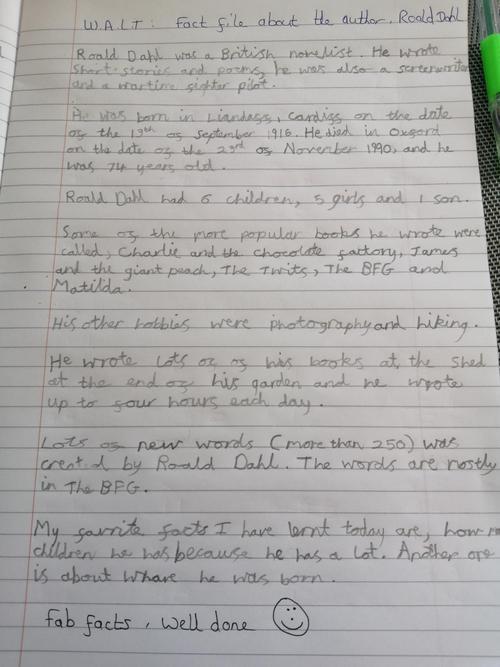 Emily's Roald Dahl facts