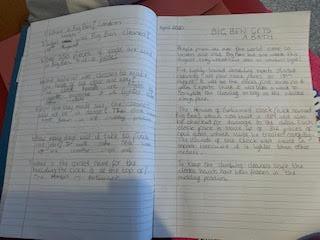 Esma's writing about Big Ben