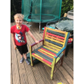 Painting a garden chair