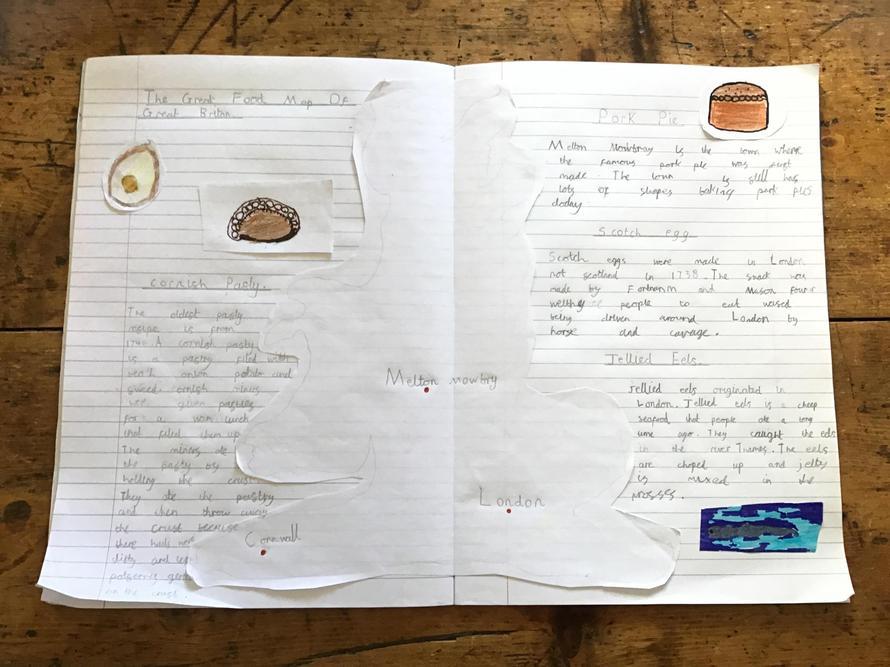 Monty's British food map