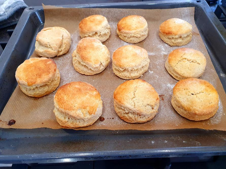 Isabelle's scones, ready to be eaten!